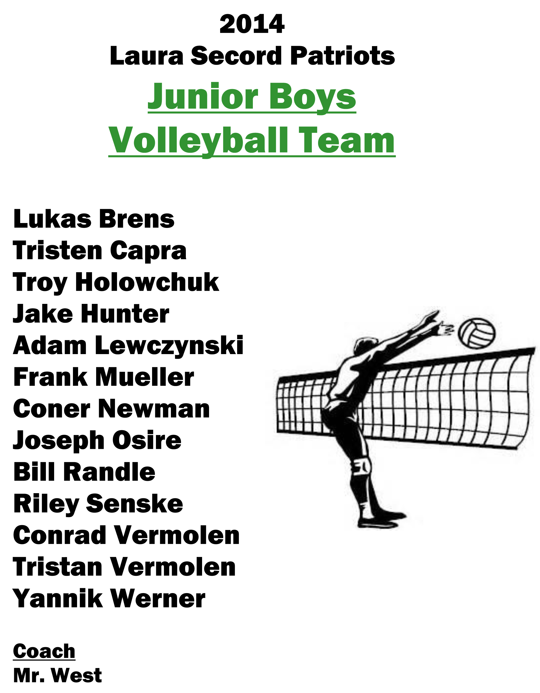 2011 Team Junior Boys