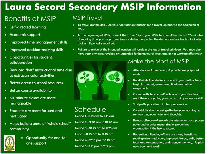 Laura Secord Secondary MSIP Information
